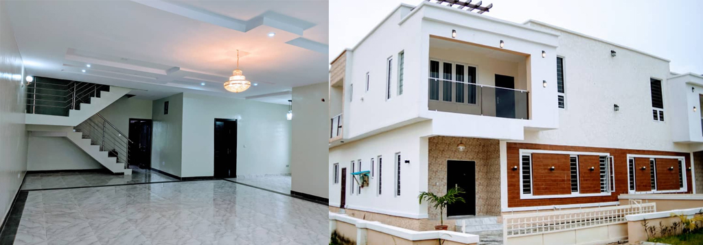 Massive and spacious 4 bedroom duplex and a Room BQ…(5 Rooms in all)